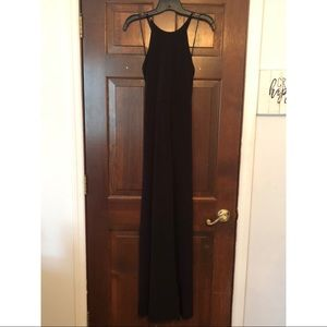 ✨NWT✨ Black Maxi Dress with Tie Back and Slit